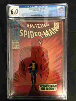 MARVEL COMICS AMAZING SPIDER-MAN NO. 50 ( CGC 6.0) 1ST