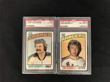 1976 O-PEE-CHEE NM-MT 8 GRADED HOCKEY CARD LOT (#230