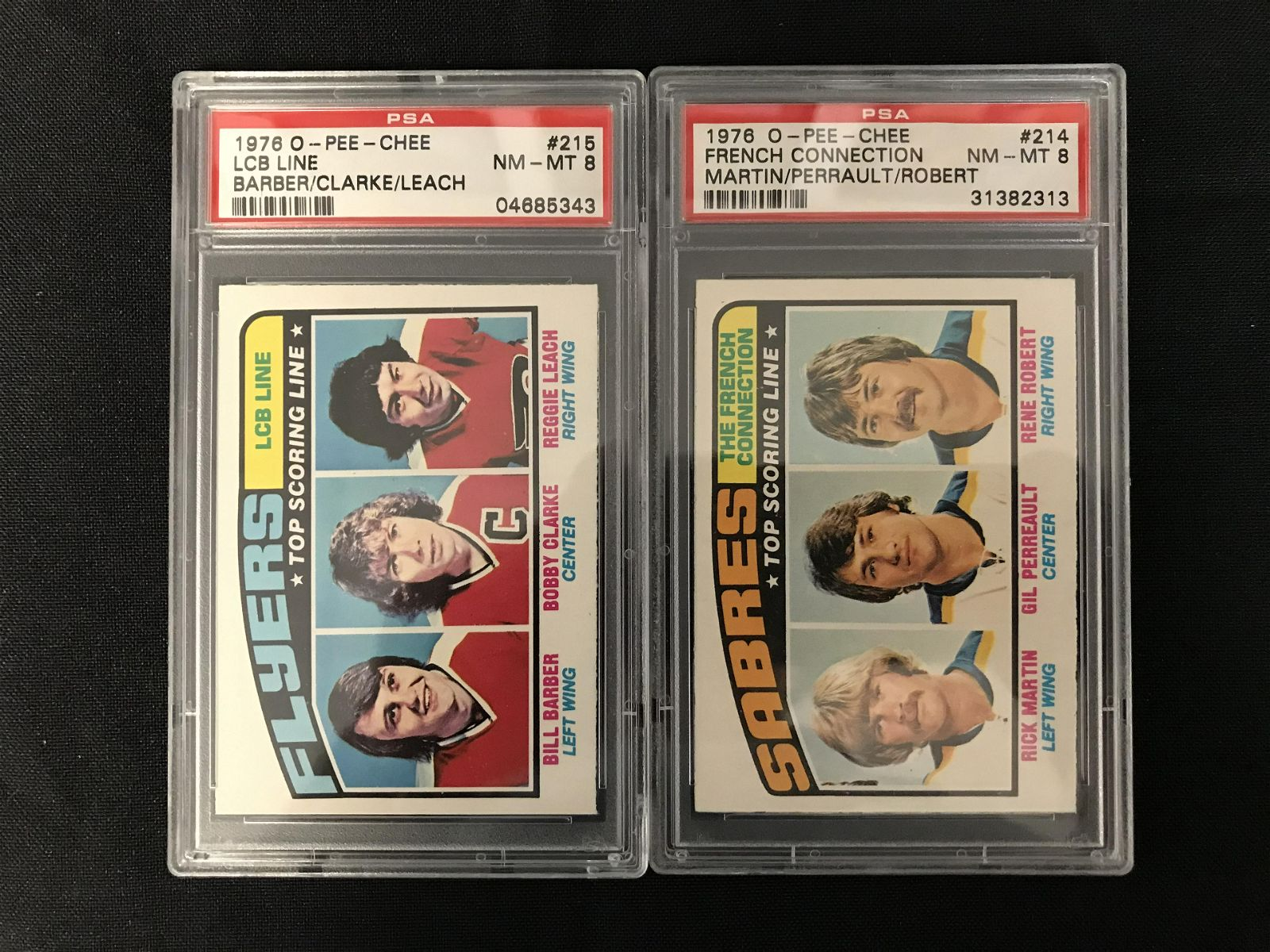 1976 O-PEE-CHEE NM-MT 8 GRADED HOCKEY CARD LOT (#215