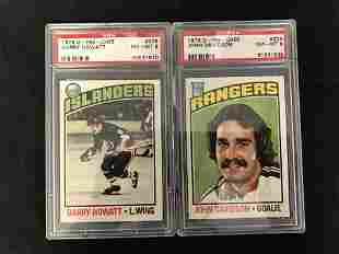1976 O-PEE-CHEE NM-MT 8 GRADED HOCKEY CARD LOT (#206