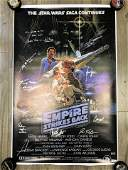 """STAR WARS """"THE EMPIRE STRIKES BACK"""" MULTI-SIGNED POSTER"""
