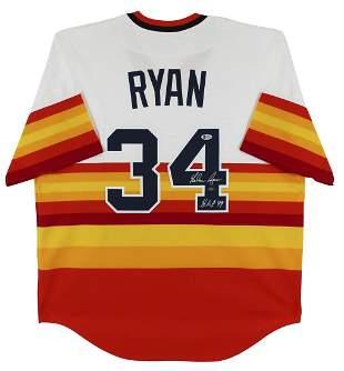 "Astros Nolan Ryan ""HOF 99"" Signed Nike 1980 Cooperstown"