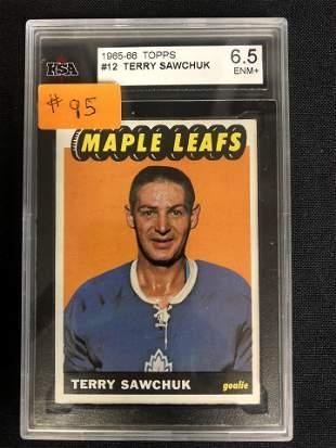 1965-66 TOPPS TERRY SAWCHUCK ( KSA 6.5)