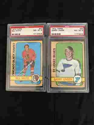 1972 TOPPS PSA GRADED CARD LOT ( UNGER, WHITE)