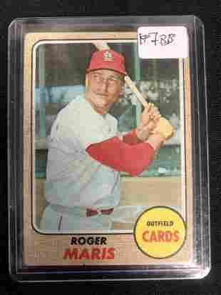 1968 TOPPS ROGER MARIS BASEBALL CARD
