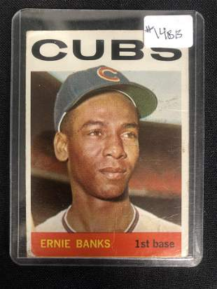 1964 TOPPS ERNIE BANKS BASEBALL CARD