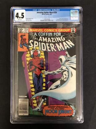 The AMAZING SPIDER-MAN #220 CGC GRADE 4.5 (MARVEL