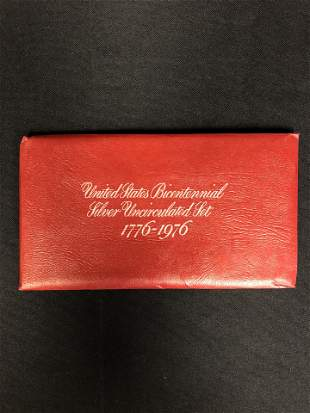 UNITED STATES BICENTENNIAL SILVER UNCIRCULATED COIN SET