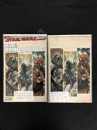 MARVEL COMICS STAR WARS BOUNTY HUNTER VIRGIN COVER LOT