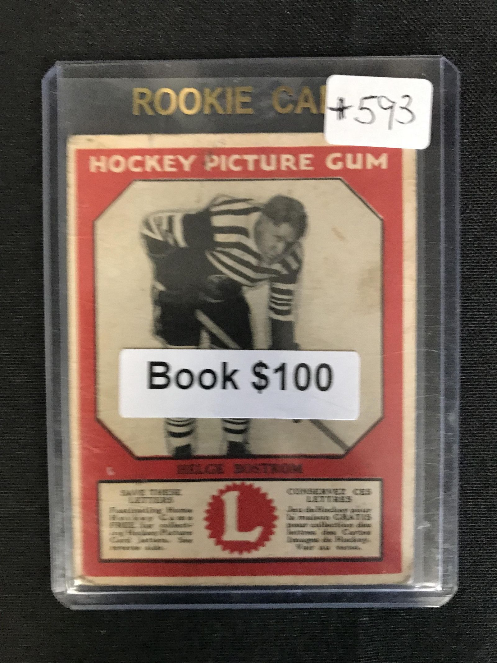 1934-35 Canadian Chewing Gum Hockey Picture Card Helge