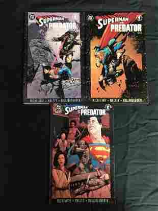 SUPERMAN vs. PREDATOR #1-3 (DC COMICS)