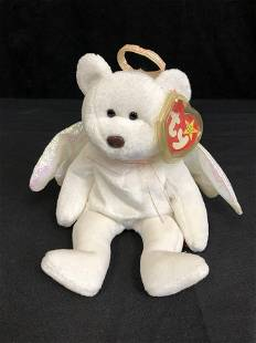 Ty Beanie Babies Halo the Angel Bear Toy New w/ Tags