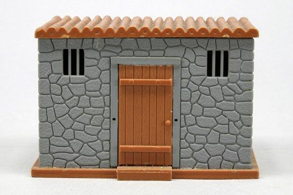 5565: 1 Timpo Gefängnis, grau/braun, zusammengebaut, Tü