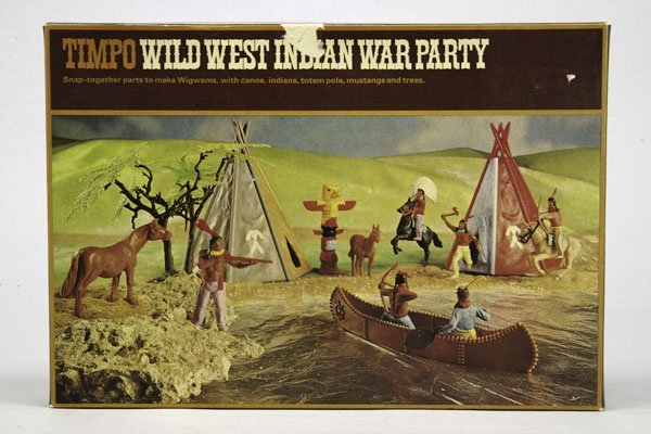 5566: 1 Timpo Wild West Indian War Party OK Nr. 253: 2