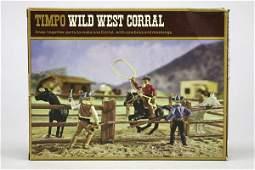 5567 1 Timpo Wild West Corral 1 Cowboy zu Pferd Lass