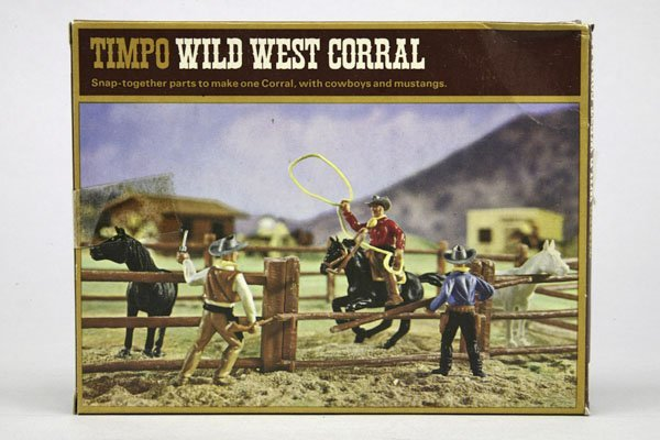 5567: 1 Timpo Wild West Corral: 1 Cowboy zu Pferd, Lass