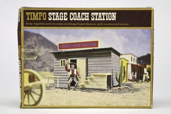 5568: 1 Timpo Stage Coach Station, umgebaut, zwei Klein