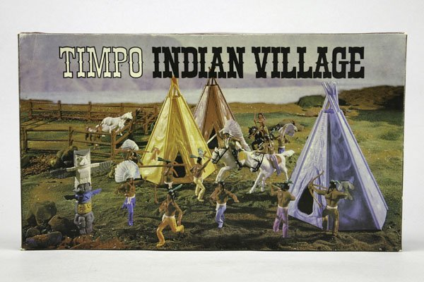 5569: 1 Timpo Indian Village Nr. 258: 3 Wigwams, 17 Zau