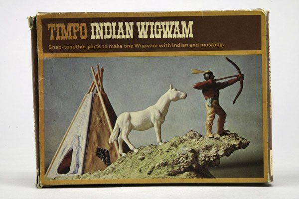 5575: 1 Timpo Indian Wigwam Set Nr. 274: 1 Indianer mit