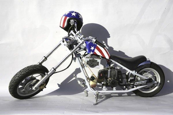 """5841: 1 Kinder Motorrad Chopper, im Stil der """"Captain A"""