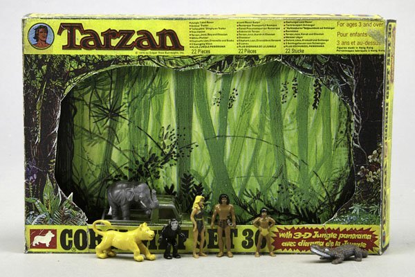 1513: 1 Corgi Gift Set 36 Tarzan: mit Land Rover, Tarza