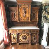 Flemish hunt buffet with marble Insert