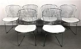 Set of 6 Harry Bertoia style chairs