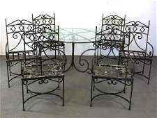 7 Piece wrought iron patio set