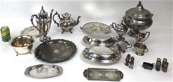 Miscellaneous group of silver and silver plate