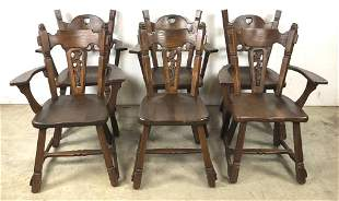 6 Old Hickory chairs