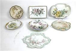 Group of Limoges porcelain plates