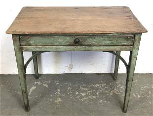 French Provincial one drawer side table