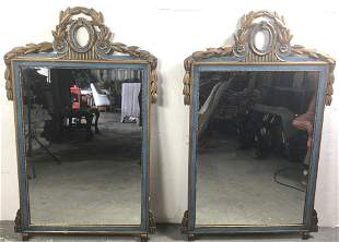 Pair of  Neoclassical style painted mirrors