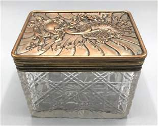 Silver plated and crystal box