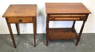 Two American maple side tables