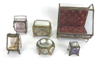 A group of 6 jewelry  boxes