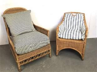 A Ralph Lauren Jamaica Wicker Armchair