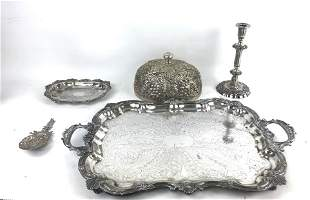 A Group of 5 Silver Plated Articles