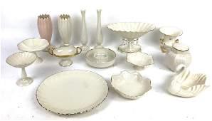 A Group of Lenox Porcelain Table Articles