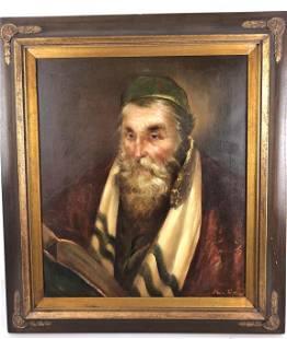 Kurtis (French B.1905) Portrait of Rabbi Oil on canvas