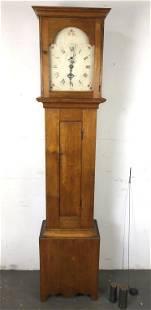 "Mahoghany Tall Case Clock 83 1/2""h x 18""w x 11""d"