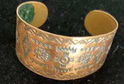 Native American Solid Copper 1940 Bracelet