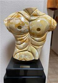 Apollo marble bust by Anthony Quinn 1986