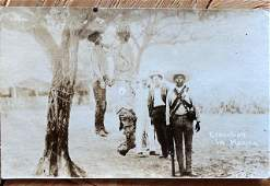 Mexican Revolution hanging Photograph RPPC ca 1910