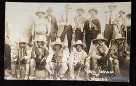 Mexican Revolution original photograph RPPC circa 1915