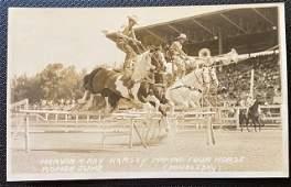RPPC photograph Cowboy Rodeo ca 1920 vintage original
