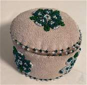 Native American Hand Beaded Trinket Box