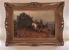 "Original Melvin Charles ""C"" Warren Oil on Canvas Texas"