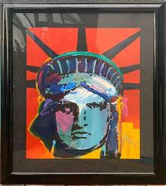 Peter Max Gateway to the World, 44x39 Liberty
