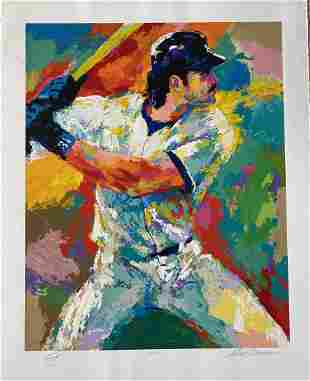 Leroy Neiman Mike Piazza Limited Edition Dual Hand Sign